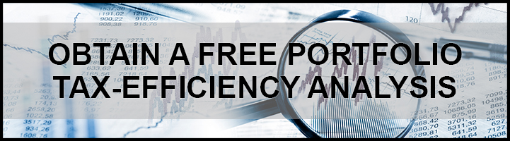 "Rectangle banner image stating ""Obtain a Free Portfolio Tax-Efficiency Analysis""."
