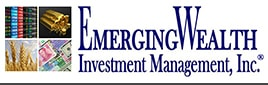 EmergingWealth Investment Management, Inc. ® text in dark blue on the right with their logo on the left.