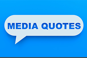 "A generic Media Quotes image in light blue and white stating text ""Media Quotes"" in a mini word cloud."